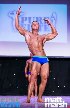 Chris de Tute 4th place in pure elite finest model under 70kg, April 2017