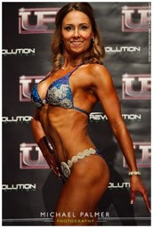 Emma - 3rd place UFE bikini over 35 category, October 2016