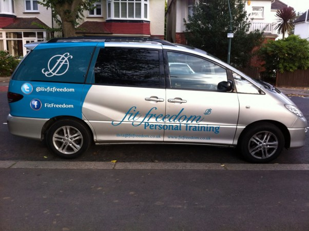 Fit Freedom personal training car from the side