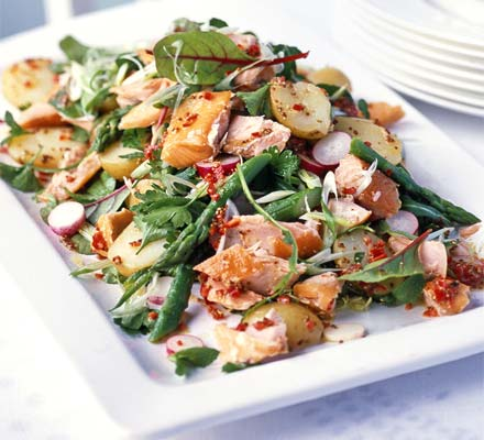 Salads can be hot and tasty
