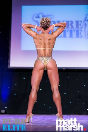 Karin - 2nd place in pure elite muscle model category, april 2017