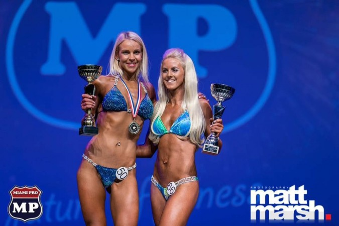 Steff - 2nd place and pro card Miami pro bikini, July 2016