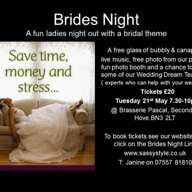 Brides Event on Tuesday 21st May in Hove