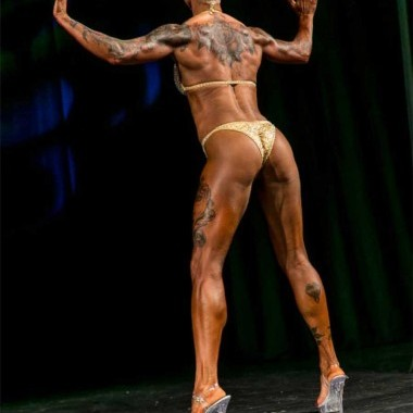 Jenny, a client in Norway, enters her first fitness show – an incredible lady!